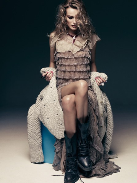 Edita Vilkeviciute for Vogue Germany December 2010 by Alexi Lubomirski