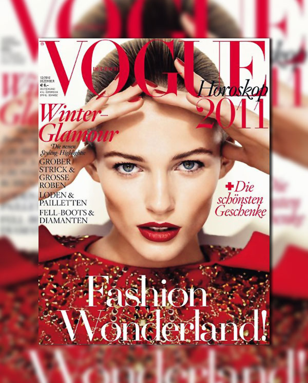Vogue Germany December 2010 Cover   Edita Vilkeviciute