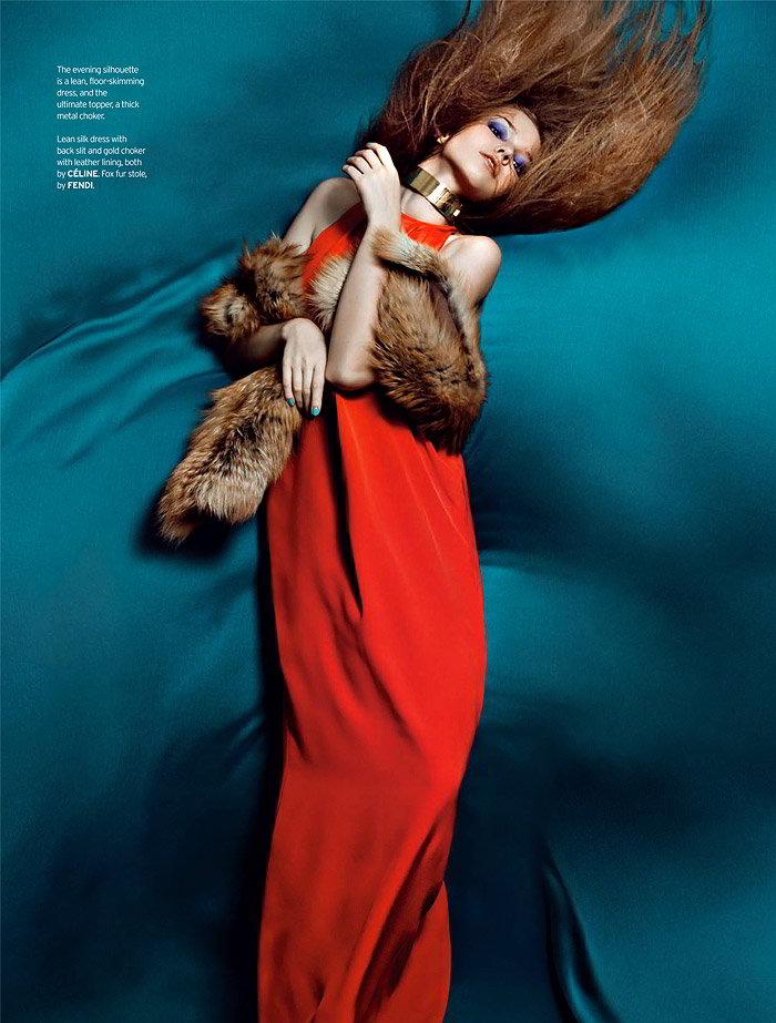 Sasha Luss by Zhang Jingna for Elle Singapore December 2010