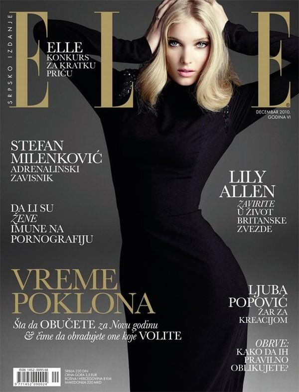Elle Serbia December 2010 Cover | Elsa Hosk