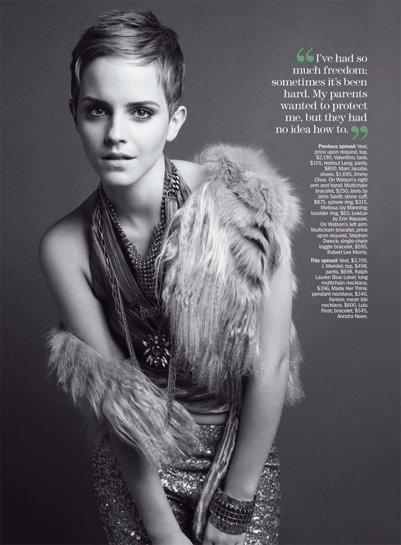 Emma Watson for Marie Claire US December 2010 by Tesh