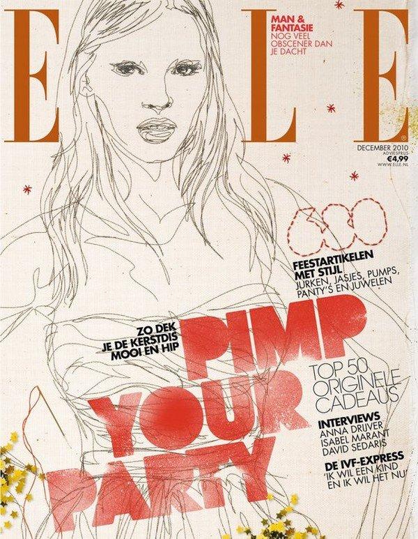 Elle Netherlands December 2010 Cover | Lara Stone
