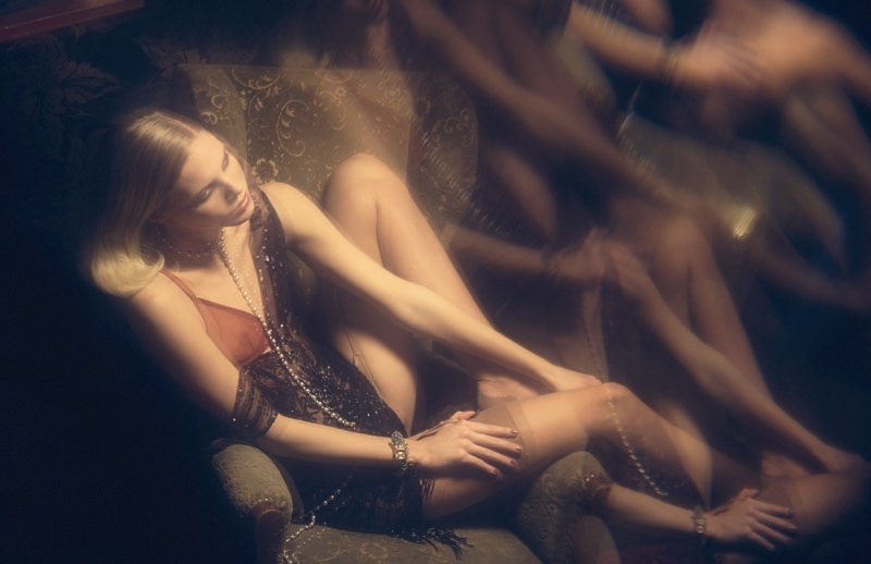 Jevne Ragnhild by David Bellemére in Light Show da Boudoir | Marie Claire Italia November 2010