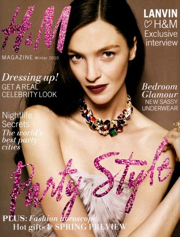 H&M Magazine Winter 2010 Cover | Mariacarla Boscono by Jan Welters