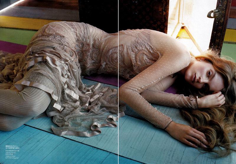 Mirte Maas by Javier Vallhonrat for Vogue China December 2010