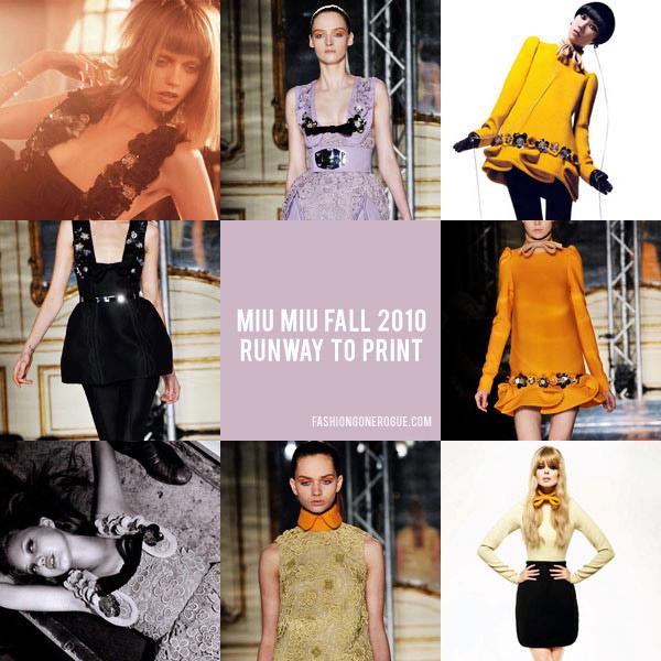 Miu Miu Fall 2010 | Runway to Print