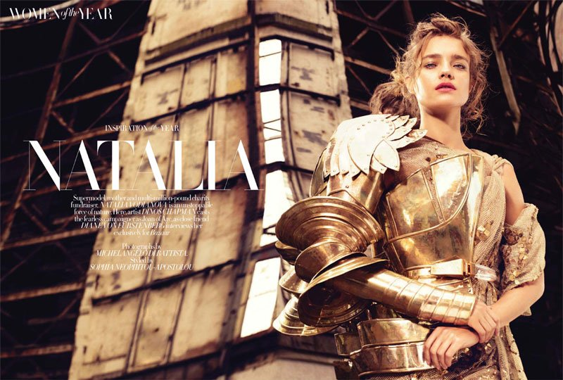 Natalia Vodianova for Harper's Bazaar UK December 2010 by Michelangelo di Battista