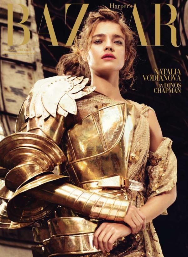 Harper's Bazaar UK December 2010 Cover   Natalia Vodianova by Michelangelo di Battista