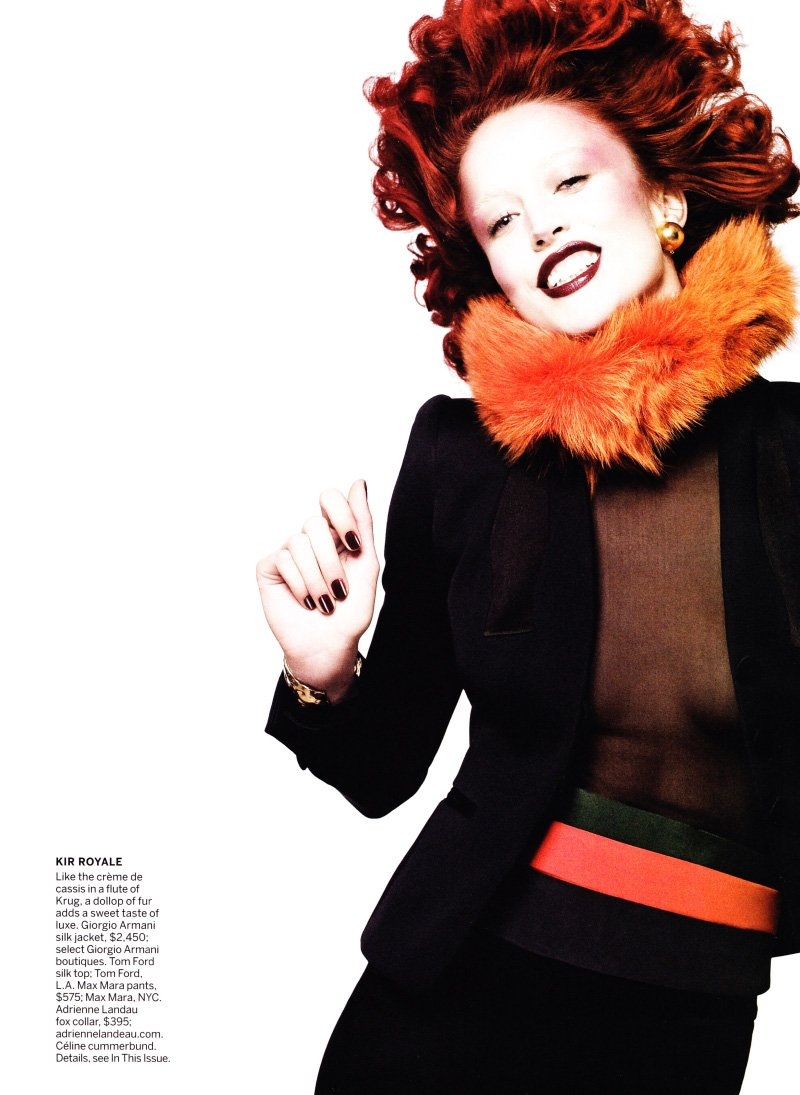 Raquel Zimmermann by David Sims for Vogue US December 2010