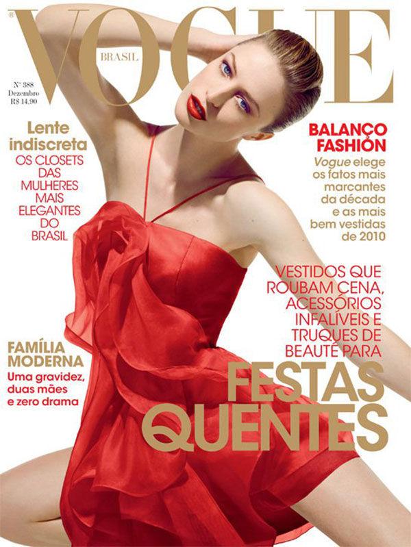 Vogue Brazil December 2010 Cover | Raquel Zimmermann by Henrique Gendre
