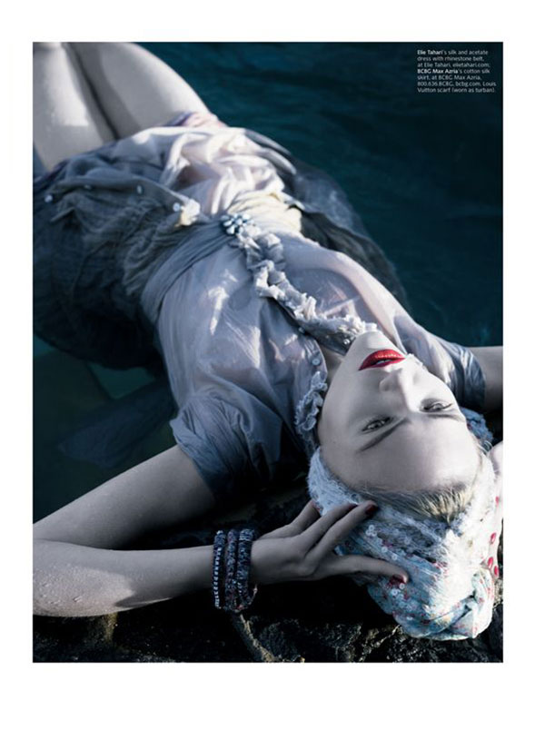Morning Beauty   Sasha Pivovarova by Michael Thompson