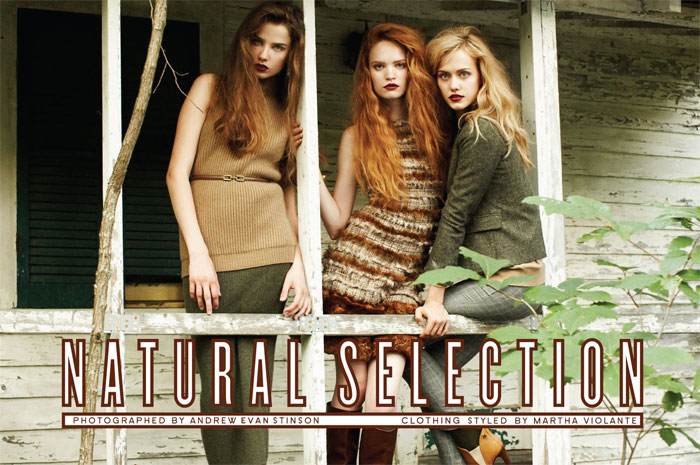 Snap!   Natural Selection by Andrew Evan Stinson for StyleCaster