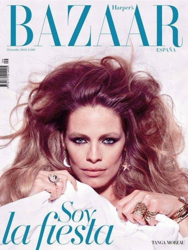 Harper's Bazaar Spain December 2010 Cover   Tanga Moreau by Nico
