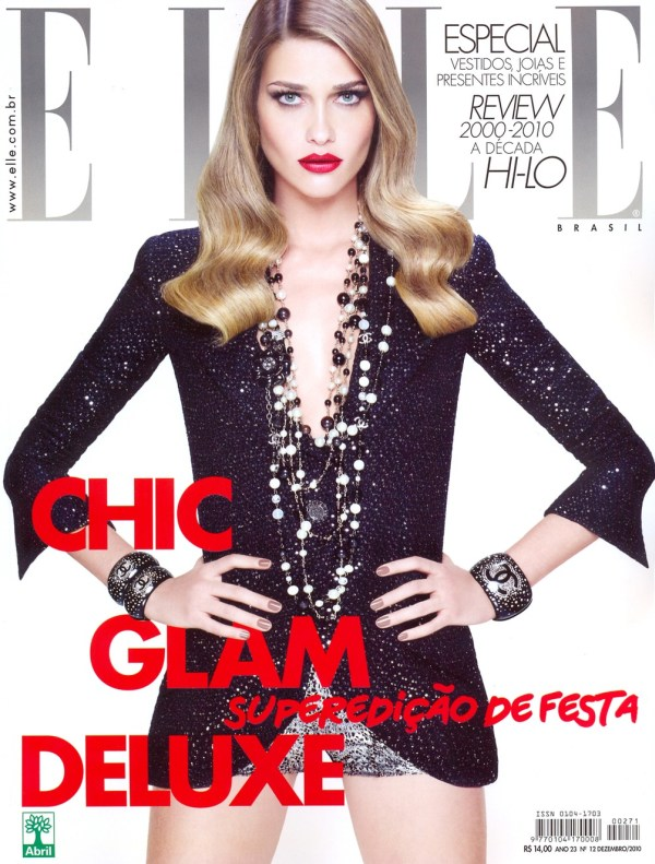 Elle Brazil December 2010 Cover | Ana Beatriz Barros