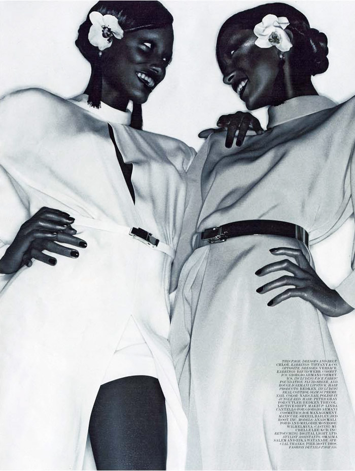 Melodie Monrose & Anais Mali by Solve Sundsbo for Interview December 2010