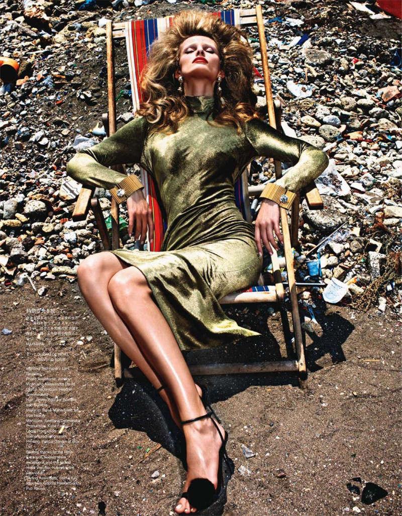 Edita Vilkeviciute by Mario Sorrenti for Vogue Nippon January 2011