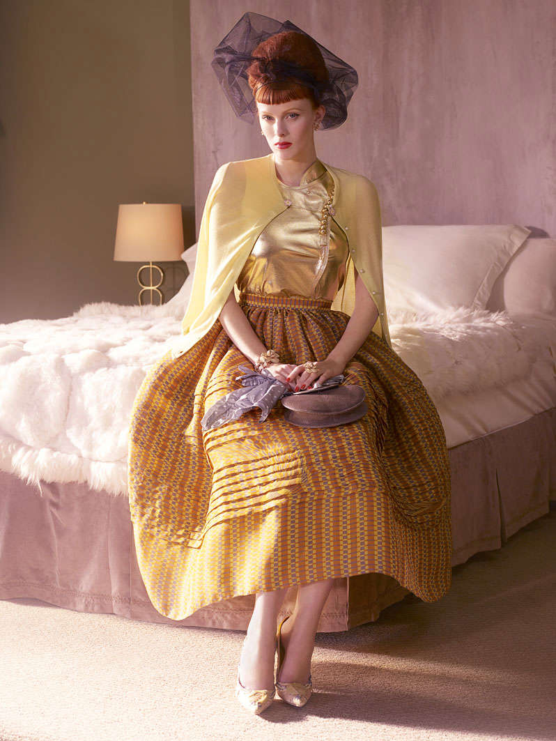 Morning Beauty | Karen Elson by Mario Testino