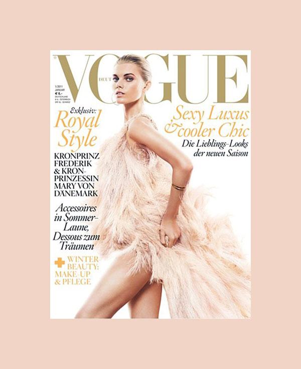 Vogue Germany January 2011 Cover | Maryna Linchuk by Greg Kadel