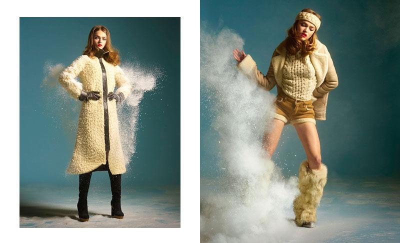 Sophie Vlaming by Milo Keller & Julien Gallico for L'Officiel December 2010