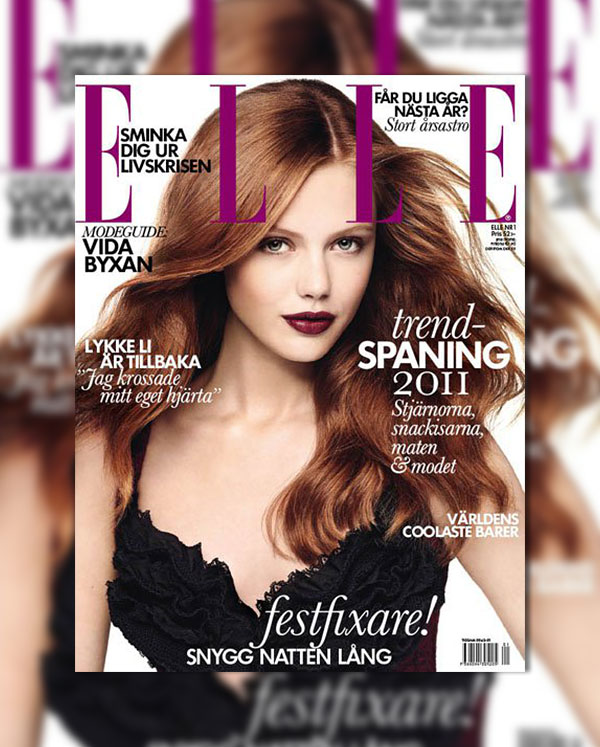 Frida Gustavsson for Elle Sweden January 2011