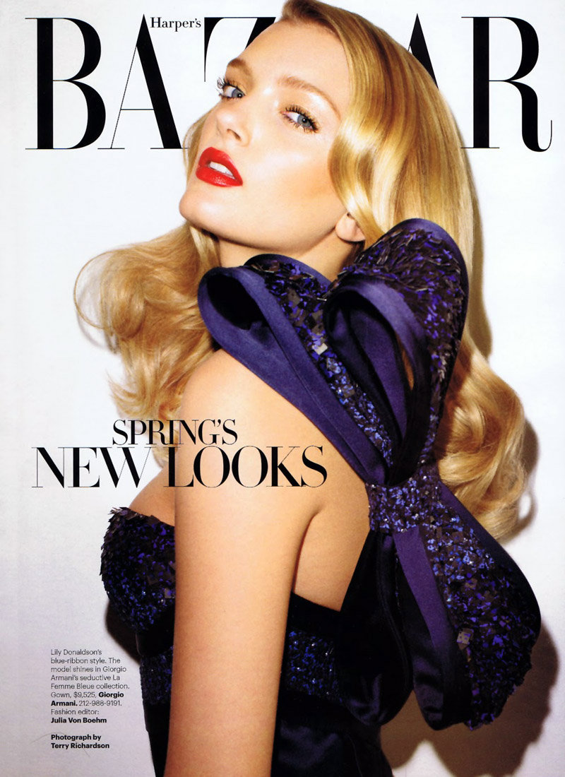 Lily Donaldson by Terry Richardson for Harper's Bazaar US January 2011