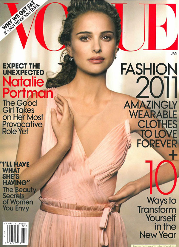 Vogue US January 2011 Cover | Natalie Portman by Peter Lindbergh
