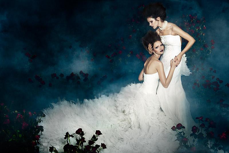 Julia, Sasha & Zivile by Zhang Jingna in 1000 Roses