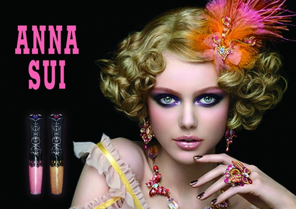 Frida Gustavsson for Anna Sui Beauty Spring 2011 Campaign