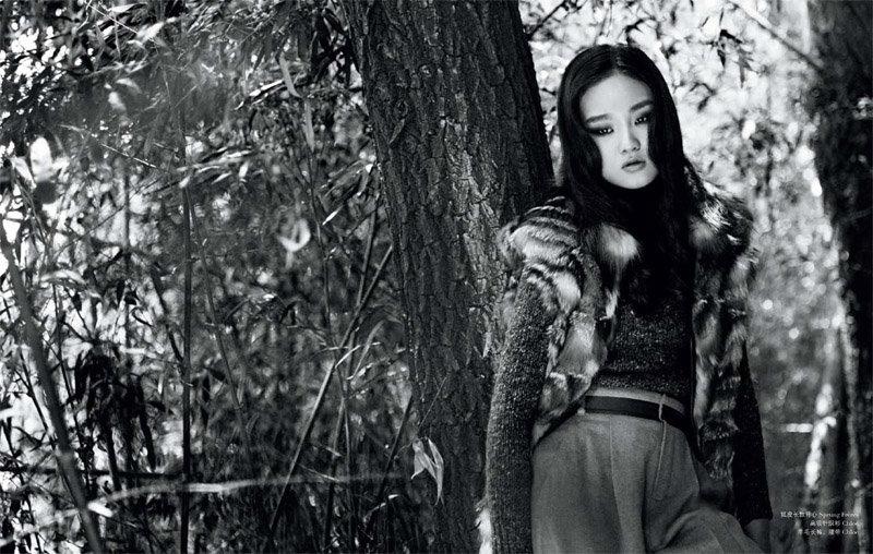 Qiao Qi by Katsuhiko Kimura for ROUGE Winter 2010
