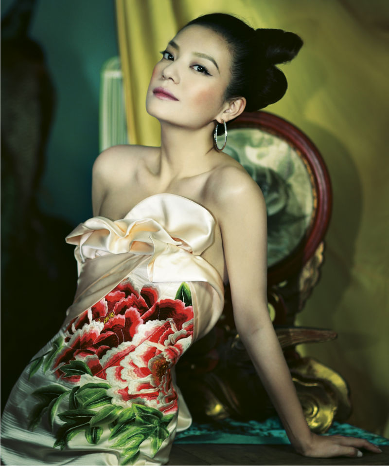 Zhao Wei for Harper's Bazaar China January 2011 by Feng Hai