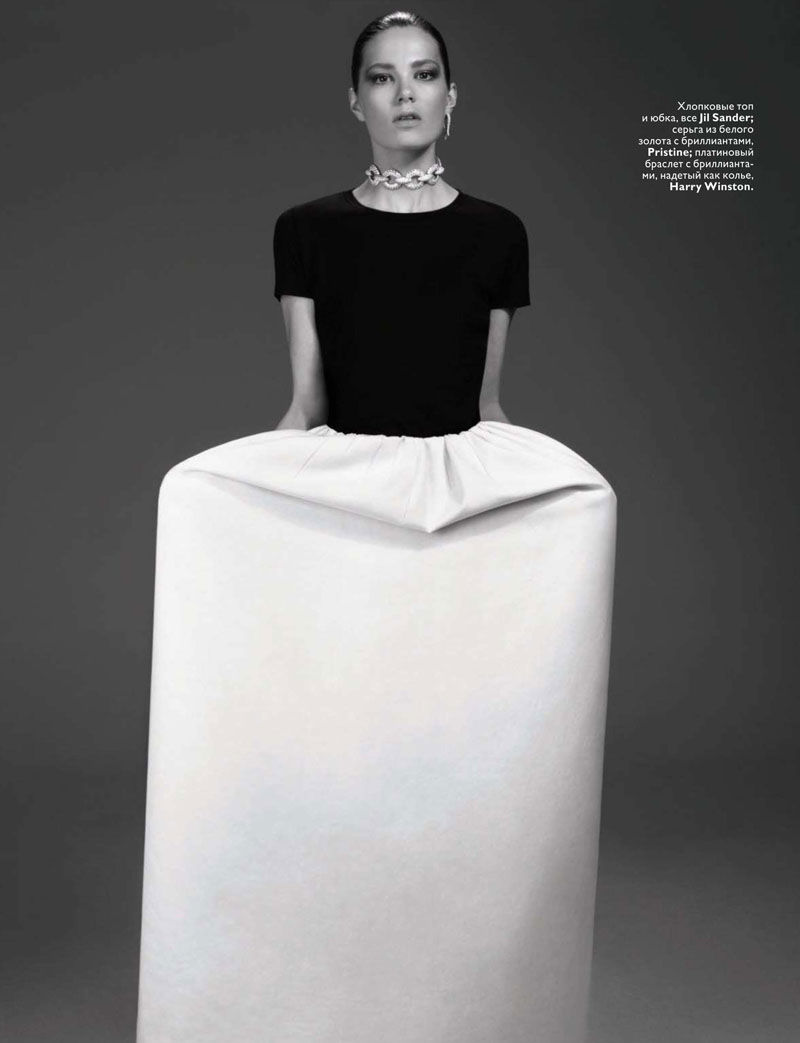 Caroline Brasch Nielsen by Anthony Maule for Vogue Russia January 2011