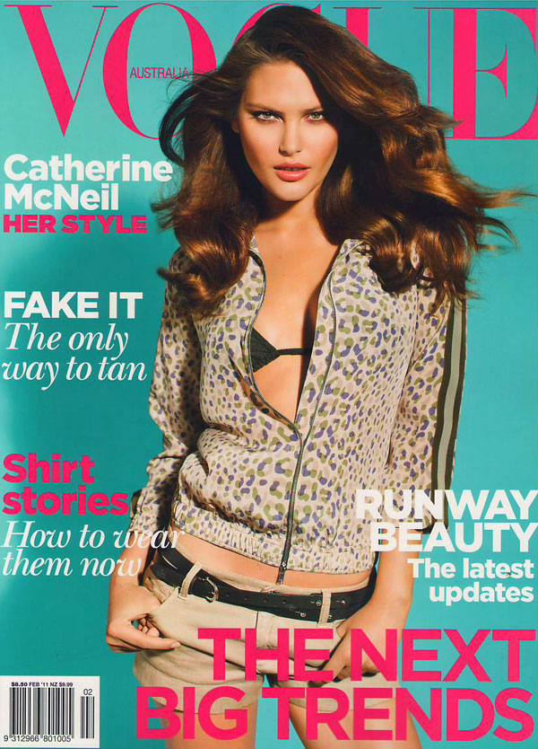 Vogue Australia February 2011 Cover | Catherine McNeil by Max Doyle
