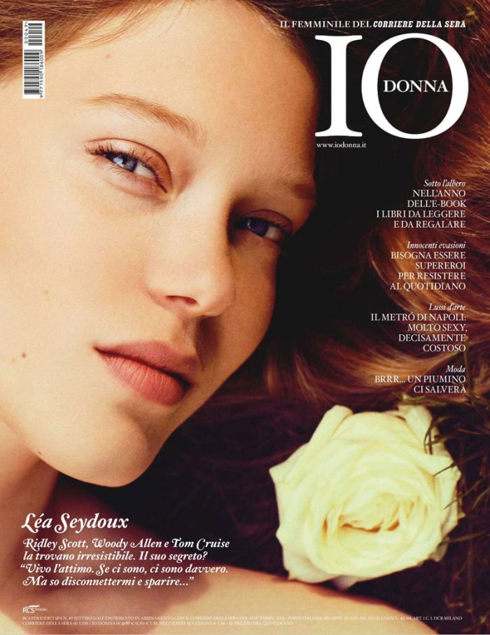 Léa Seydoux by Sylvie Malfray for Io Donna December