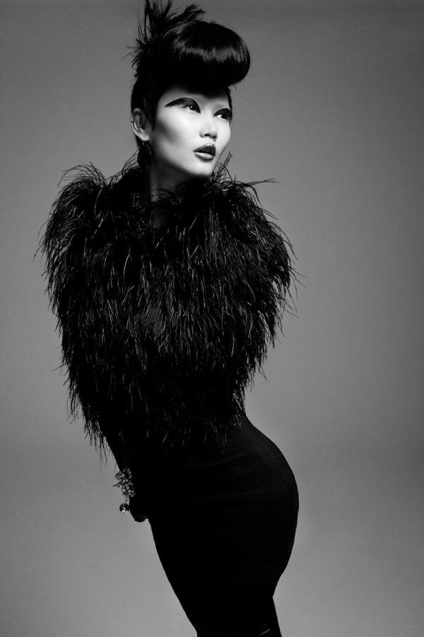 Gwen Lu by Jeff Tse in Black Swan