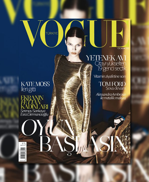 Vogue Turkey January 2011 Cover | Aymeline Valade by David Dunan