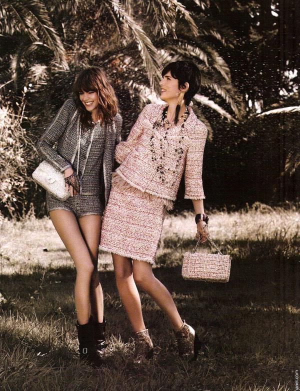 Chanel Spring 2011 Campaign | Freja Beha Erichsen & Stella Tennant by Karl Lagerfeld