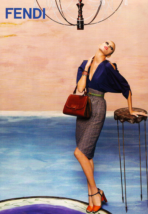 Fendi Spring 2011 Campaign Preview | Anja Rubik by Karl Lagerfeld