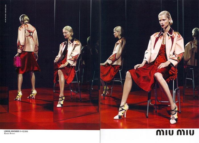 Miu Miu Spring 2011 Campaign Preview   Kasia Struss by Mert & Marcus