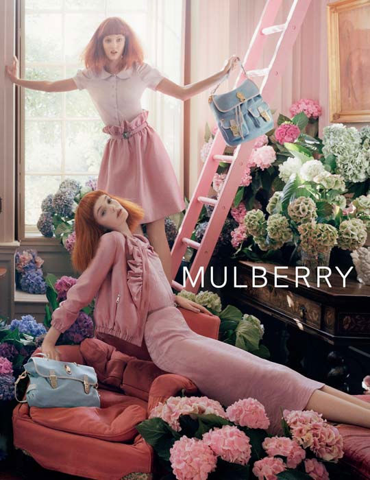 Mulberry Spring 2011 Campaign | Lindsey Wixson & Nimue Smit by Tim Walker