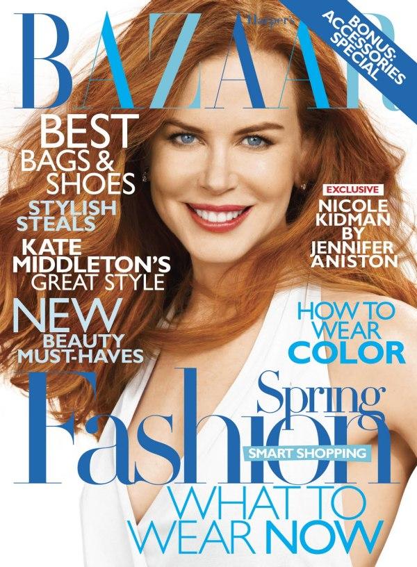 Harper's Bazaar US February 2011 Cover | Nicole Kidman by Alexi Lubomirski
