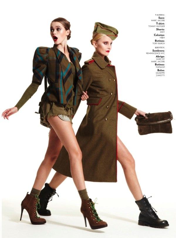 Kristen & Valeria by Hans Neumann for Glamour Mexico January 2011