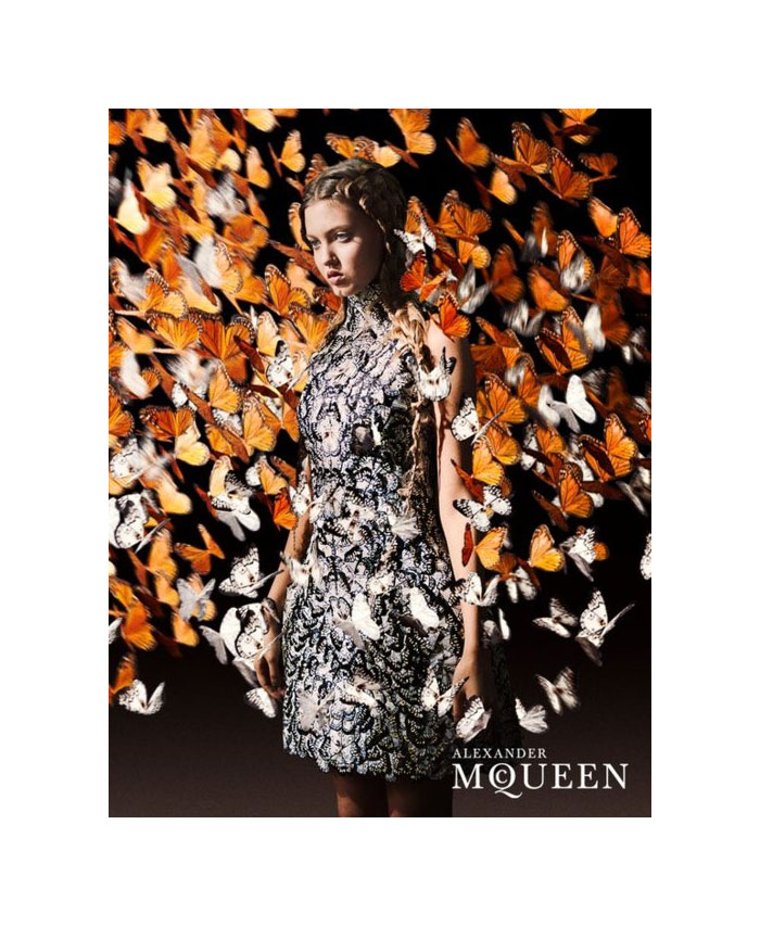Lindsey Wixson for Alexander McQueen Spring 2011 Campaign