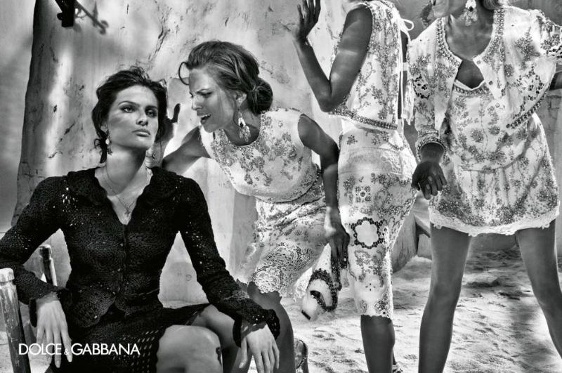 Dolce & Gabbana Spring 2011 Campaign | Alessandra Ambrosio, Isabeli Fontana, Maryna Linchuk & Izabel Goulart by Steven Klein