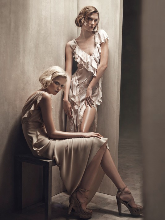 Donna Karan Spring 2011 Campaign | Abbey Lee Kershaw & Karlie Kloss by Patrick Demarchelier