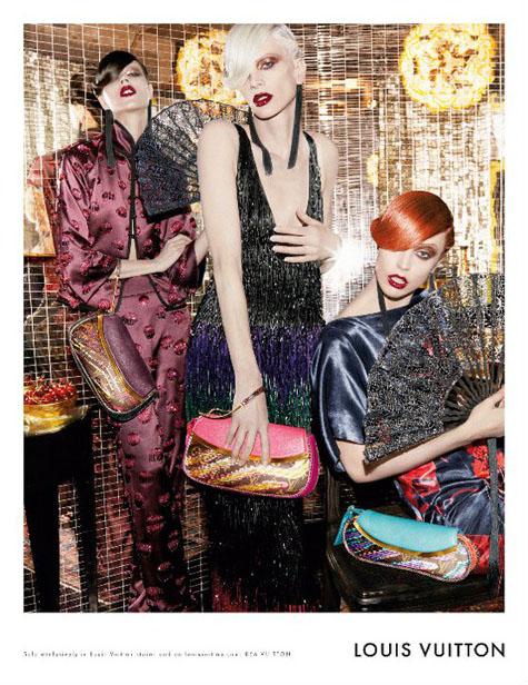 Louis Vuitton Spring 2011 Campaign | Freja Beha Erichsen, Kristen McMenamy & Raquel Zimmermann by Steven Meisel