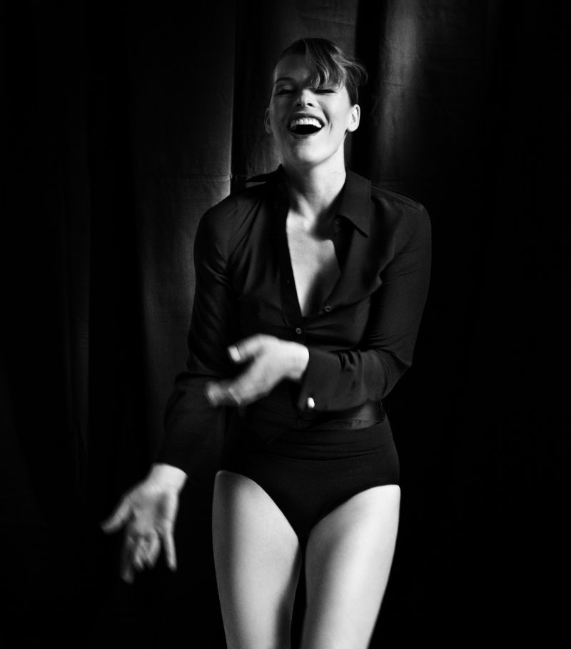 Milla Jovovich for Vogue Germany February 2011 by Francesco Carrozzini