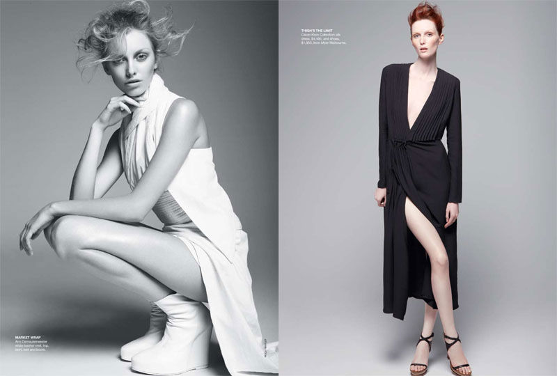 Codie Young, Myf Shepherd & Samantha Harris by Nicole Bentley for Vogue Australia February 2011