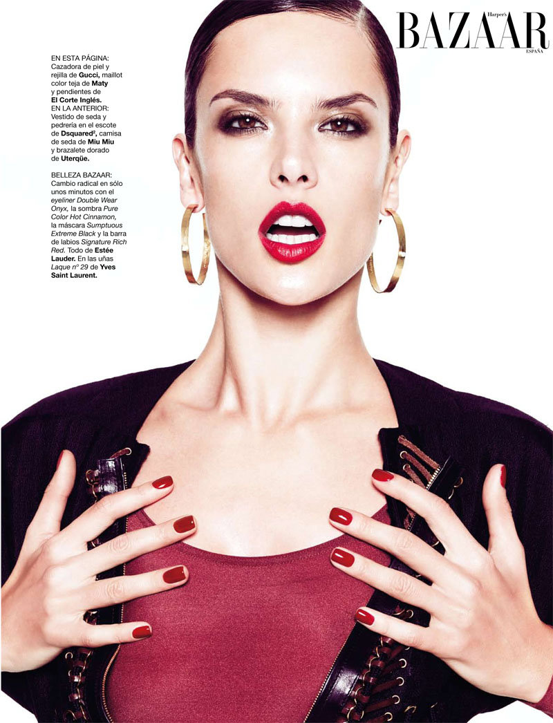 Alessandra Ambrosio for Harper's Bazaar Spain February 2011 by Nico