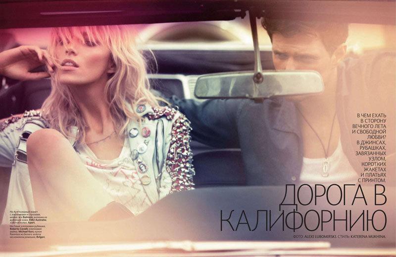 Anja Rubik & Sasha Knezevic for Vogue Russia February 2011 by Alexi Lubomirski