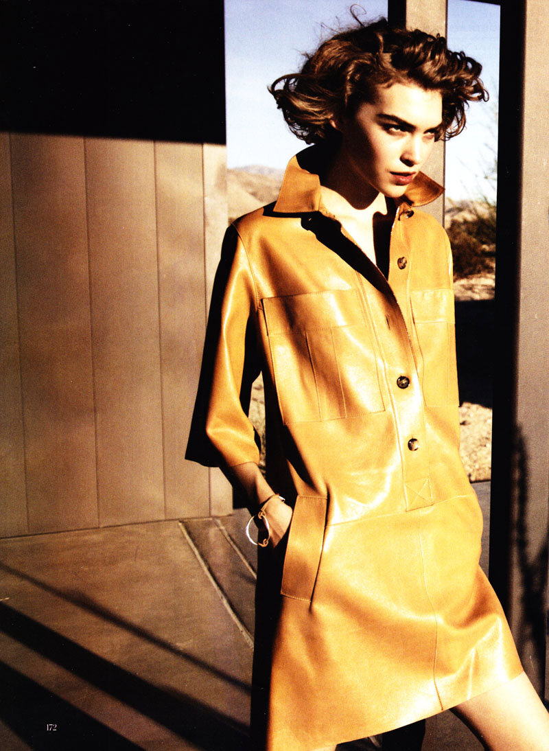 Arizona Muse by Peter Lindbergh for Vogue US February 2011